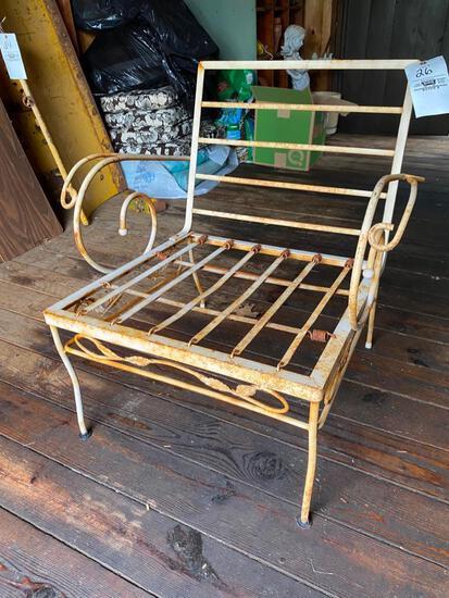 Wrought-iron patio armchair