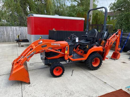 Kubota BX25D Compact Diesel Tractor with Loader and Backhoe Attachments