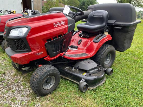 Craftsman T3500 Riding Mower with Bagger