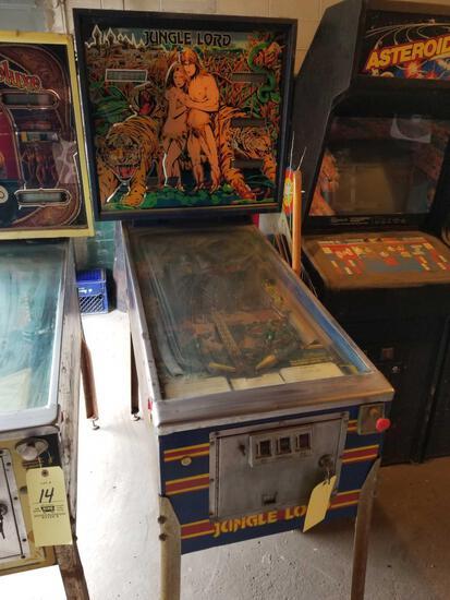 Williams Jungle Lord pinball machine, key