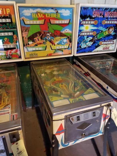 Bally Hang Glider pinball machine, no key