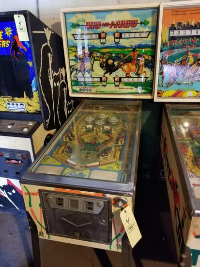 Bally Bow and Arrow pinball machine, no key