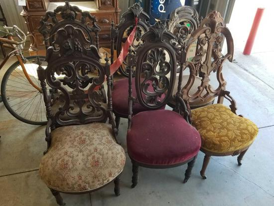 6 Victorian chairs