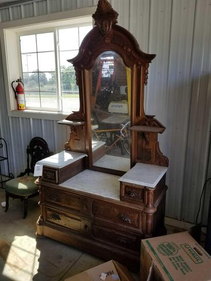 Nice Victorian dresser with marble tops