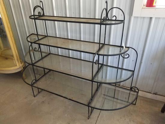 Wrought iron plant rack