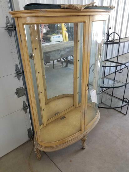 Oval china cabinet with glass shelves
