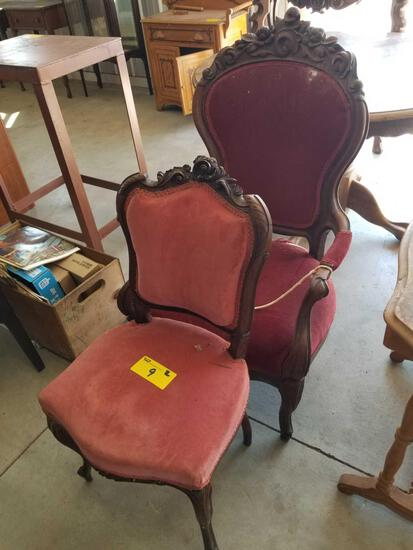 2 victorian chairs