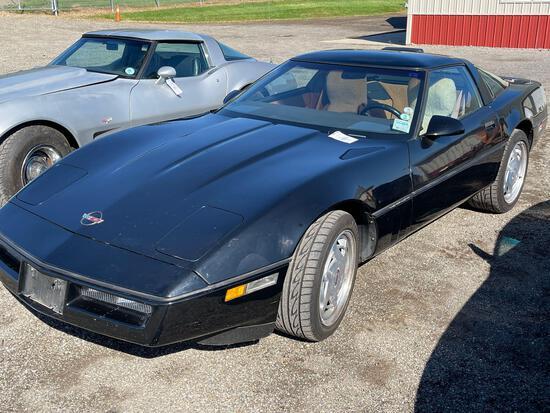 1989 black Corvette. 54,206 miles. Runs.