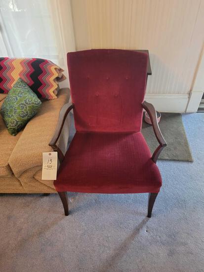 Wood framed upholstered chair