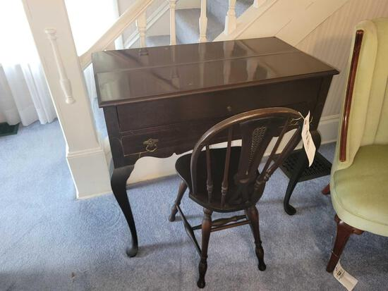 3/4 size spinet desk with chair