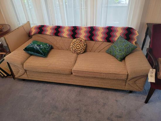 2 cushion sofa with matching upholstered chair