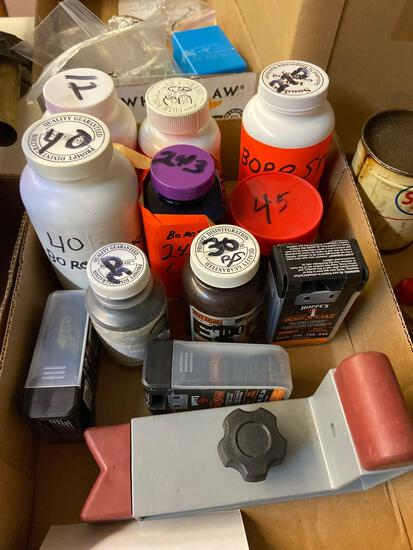 Brass cartridge cases, Bore snakes, plastic ammo boxes