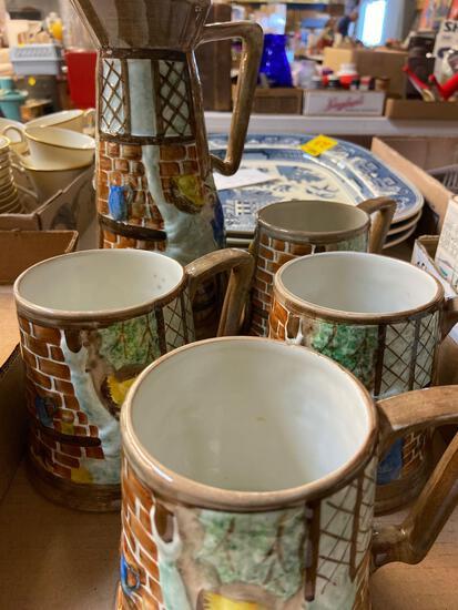 Radford England pitcher and mugs