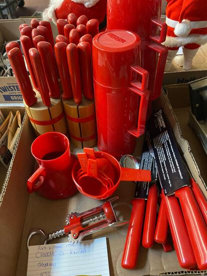 The Cherry Company knives, thermos, kitchen items