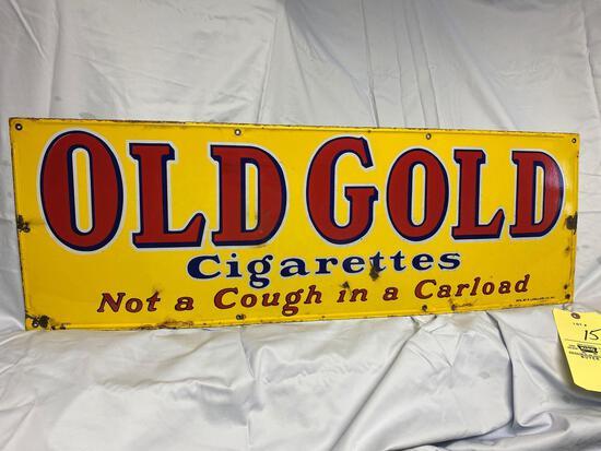 Heavy porcelain Old Gold Cigarette sign
