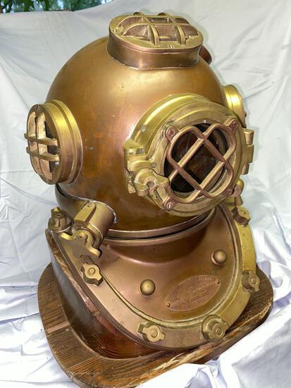 US Navy brass diving helmet