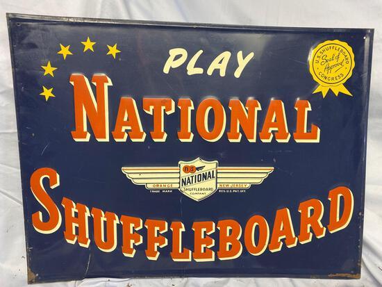 National Shuffleboard sign
