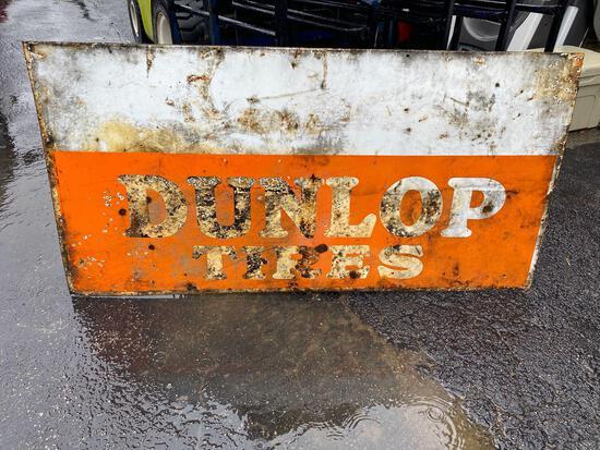 Porcelain Dunlop Tires sign - double sided