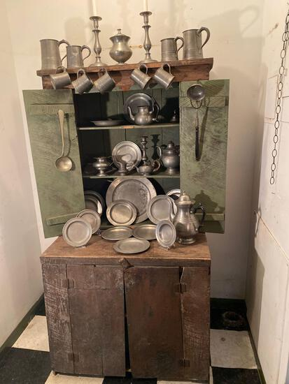Primitive cupboard purchased in Pennsylvania. Contents not included.