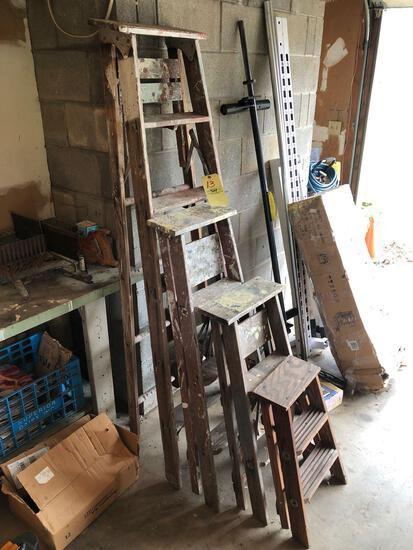 Wooden stepladders