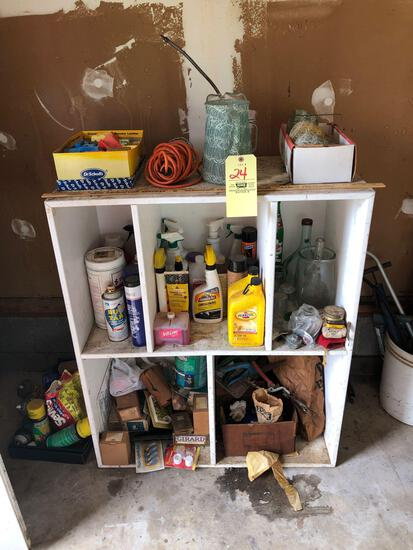 Garage cabinet w/ contents
