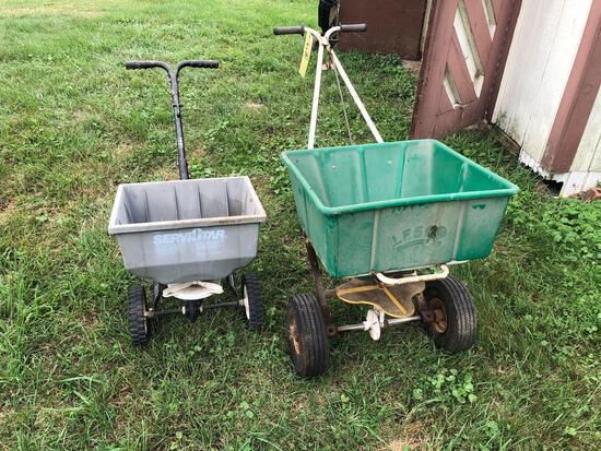 (2) lawn spreaders