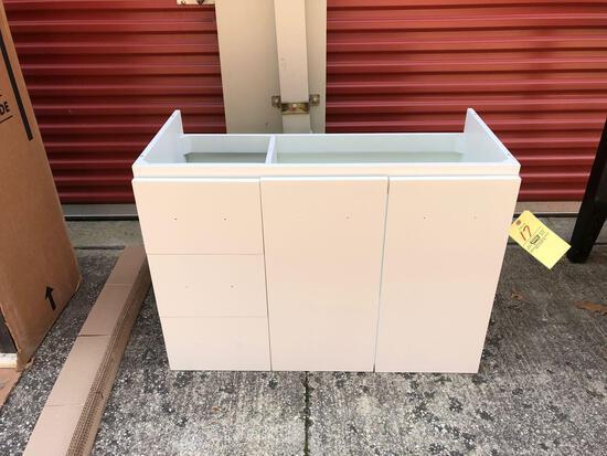 New white bathroom vanity (tax)