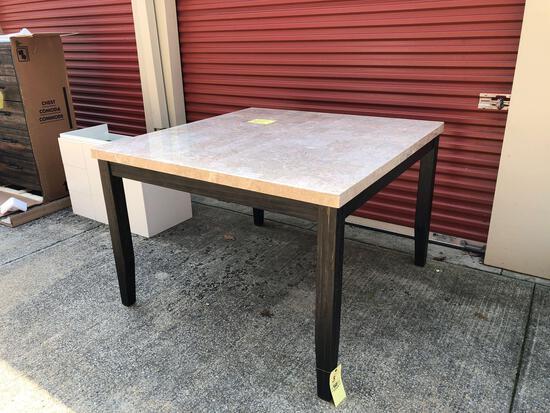 Heavy duty marble-top table (tax)