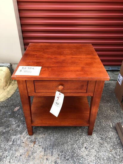 Wood lamp table (tax)