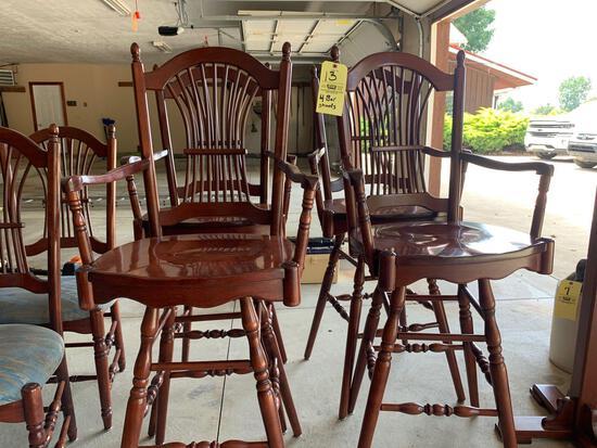 (4) Cherry bar stools