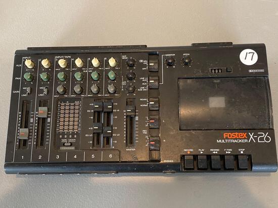 Foster X-26 multitracker recorder/mixer.