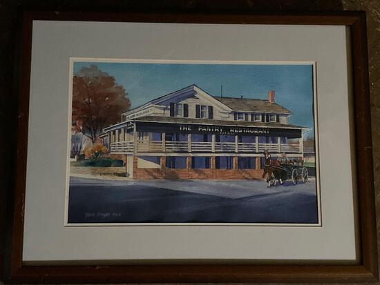"Tom Mayer (OWS) original watercolor of ""The Pantry Restaurant "" in Hartville Ohio."