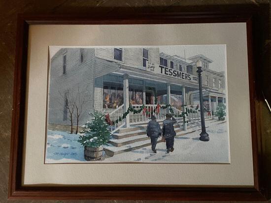 "Tom Mayer (OWS) original watercolor of ""Tessmer's General Store"" in Hartville, OH."