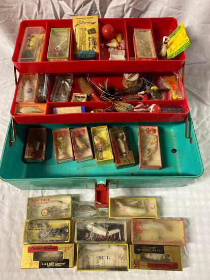 Tackle box w/ (22) lures, other tackle accessories.