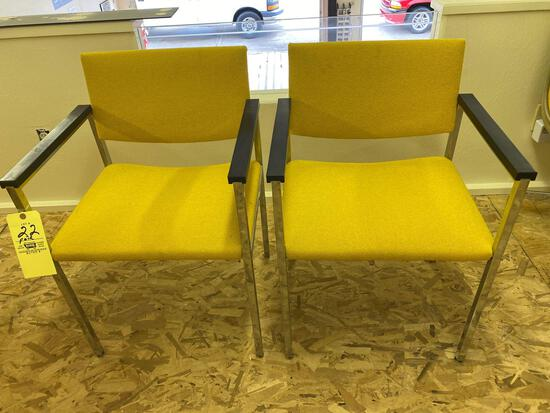 Pair Steelcase office chairs.