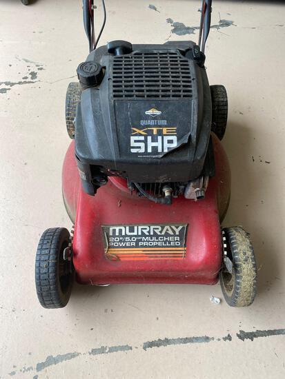 "Murray 5HP 20"" cut power propelled lawn mower."