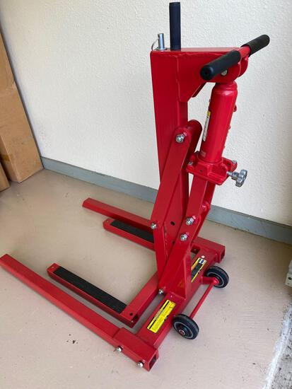 """High position motorcycle lift, 30""""."""