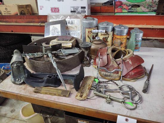 Advertising Canisters, kettle, weathervane, Shoe Horn