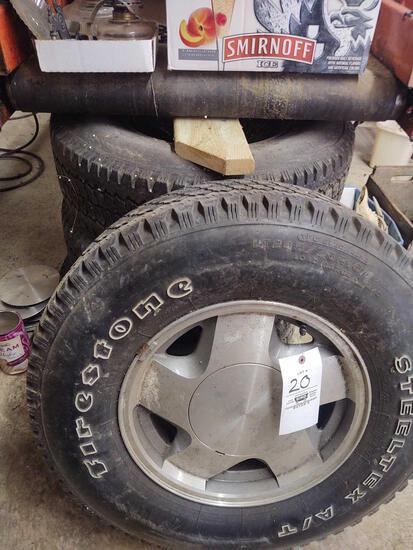 Set of 4 Tires w/ Rims LT 245/75 T16
