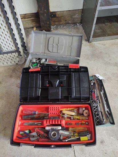 2 Toolboxes w/ assorted tools