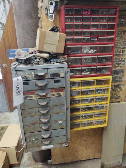 Assorted Hardware Bins w/ hardware