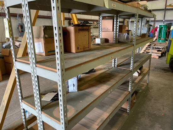 2 sections double sided shelving