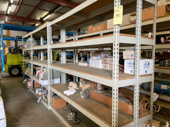 3sections double sided shelving