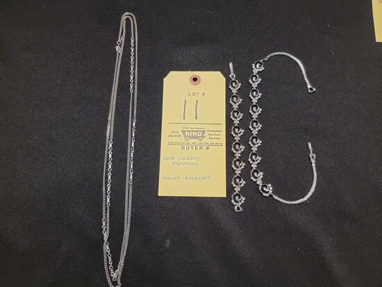 Pennino Necklace and Bracelet, Monet Necklace