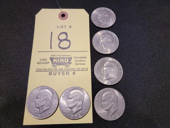 (6) Eisenhower Dollars