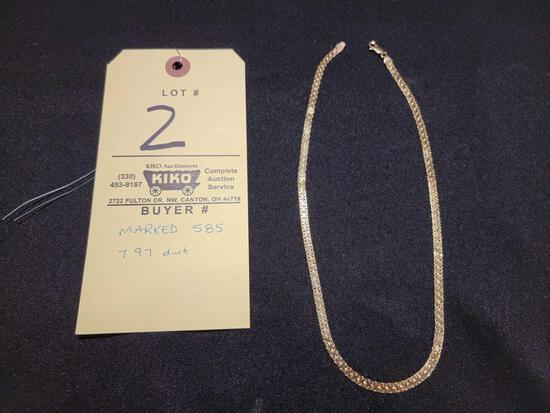 14kt Gold Chain Marked 585