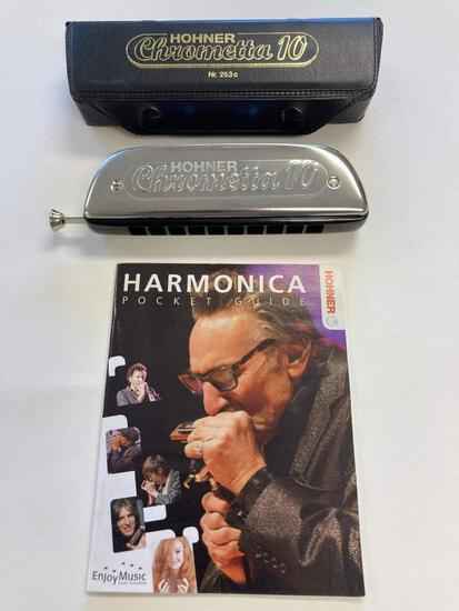 Hohner Chrometta 10 Harmonica. This instrument gives soul to music