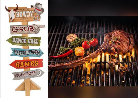 Western Themed Dinner w/Tomahawk Steaks on the Grill