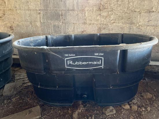 New 150 gallon Rubbermaid water tub