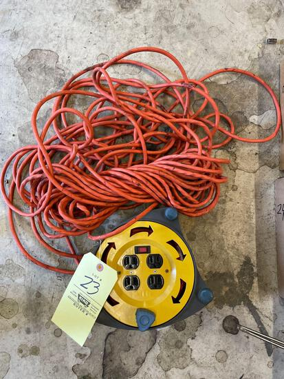 Extension cord, cord reel with plugs